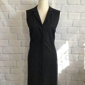 Jill Sander Black Wool Blend Sleeveless Dress